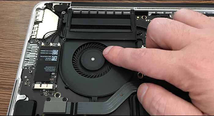 how to clean a laptop fan