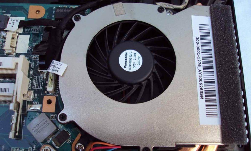 how to clean laptop fan